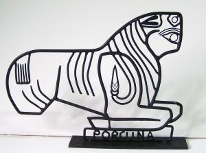 Toro de Porcuna (JAén) forjado en hierro por Luís López Vallejo