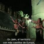 Torre de Boabdil de Porcuna con bailarinas. Museo de Porcuna (Jaén)