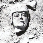 Foto de la cabeza de Guerrero sobre Cerrillo Blanco. Foto Constantino Unguetti. Propiedad de Paz Unguetti.